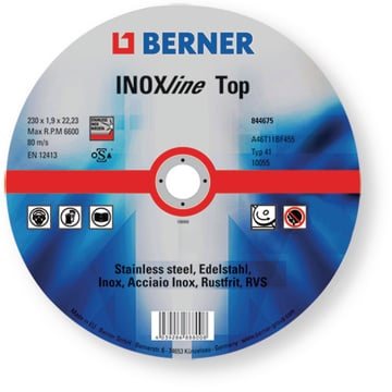 Disc de degroşat INOXline TOP 115x6x22,2